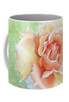 Custom floral coffee mug sharon bignell fine art