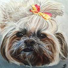 Dog portrait by Sharon Bignell