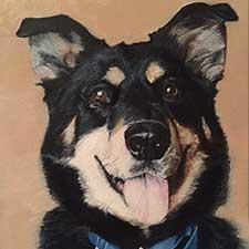German Shepard Pet Portrait by Sharon Bignell