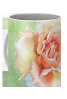 Custom floral coffee mug sharon bignell fine art